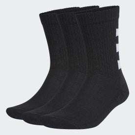3-Stripes Half-Cushioned Crew Socks 3 Pairs