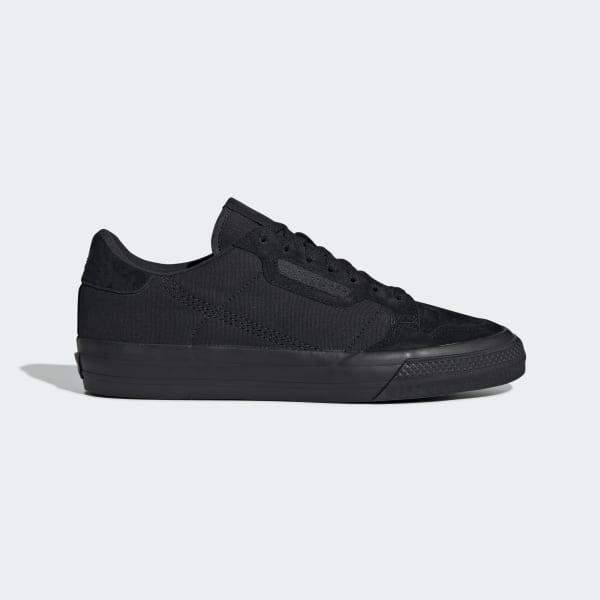 adidas Continental Vulc Shoes - Black   adidas UK